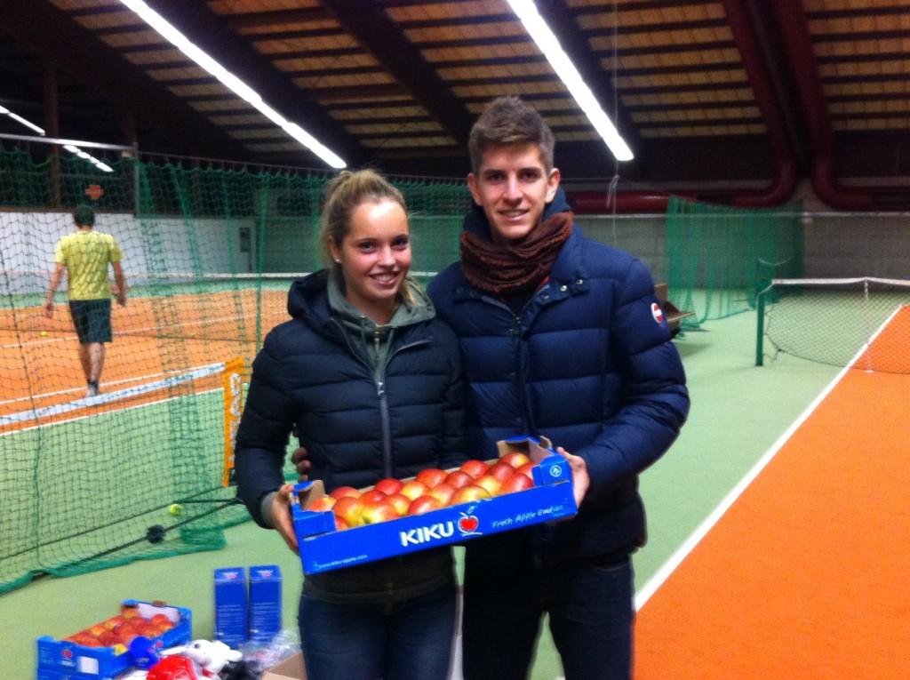 Verena Meliss und Matteo Donati haben die Verlosung vorgenommen