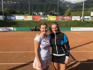Caroline und Nadia - pre Match!