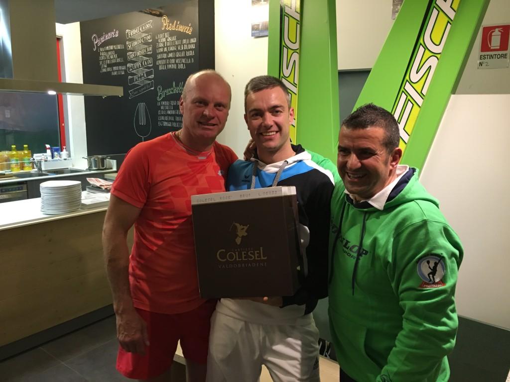 Petr und Hannes bei der Preisverteilung in Predazzo